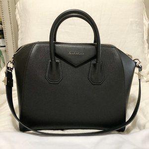 Givenchy Medium Antigona Sugar Black Leather Bag